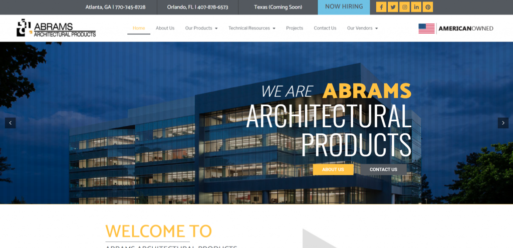 ABRAMS ARCHITECTURAL PRODUCTS