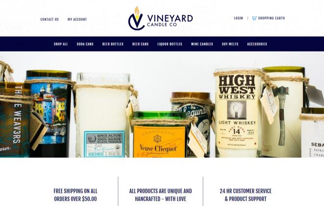 vineyardcandleco.com